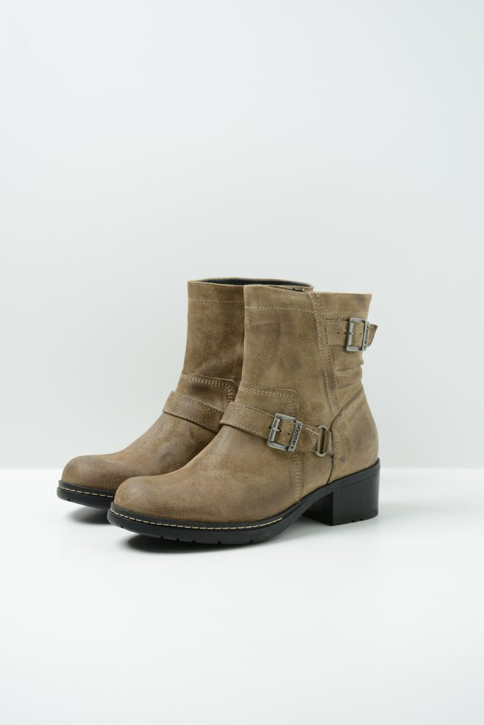 wolky biker boots 01265 raymore 45150 taupe suede front