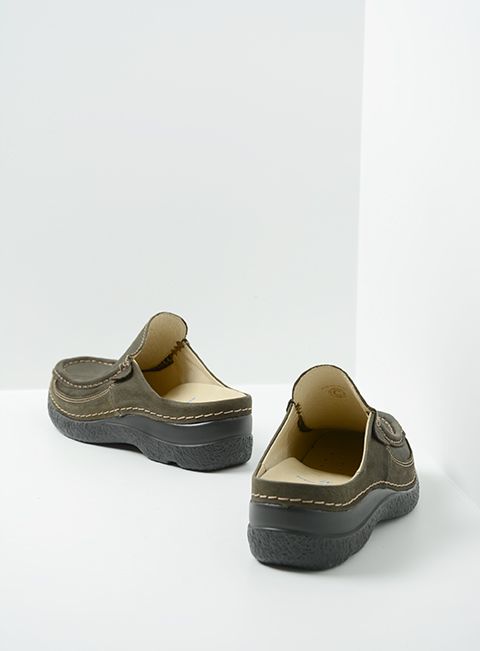 wolky comfort shoes 06202 roll slide 13770 cactus nubuck back